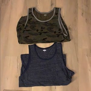 2 XL Old Navy Men's soft washed tank tops
